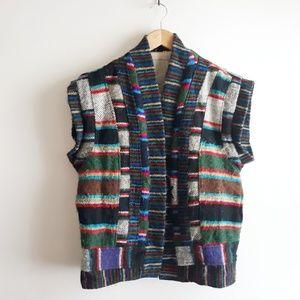Vintage Wool Southwestern Blanket Vest S